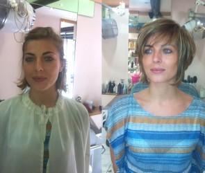 Modele de coupe cheveux mi long Coiffure tres courte femme brune ...
